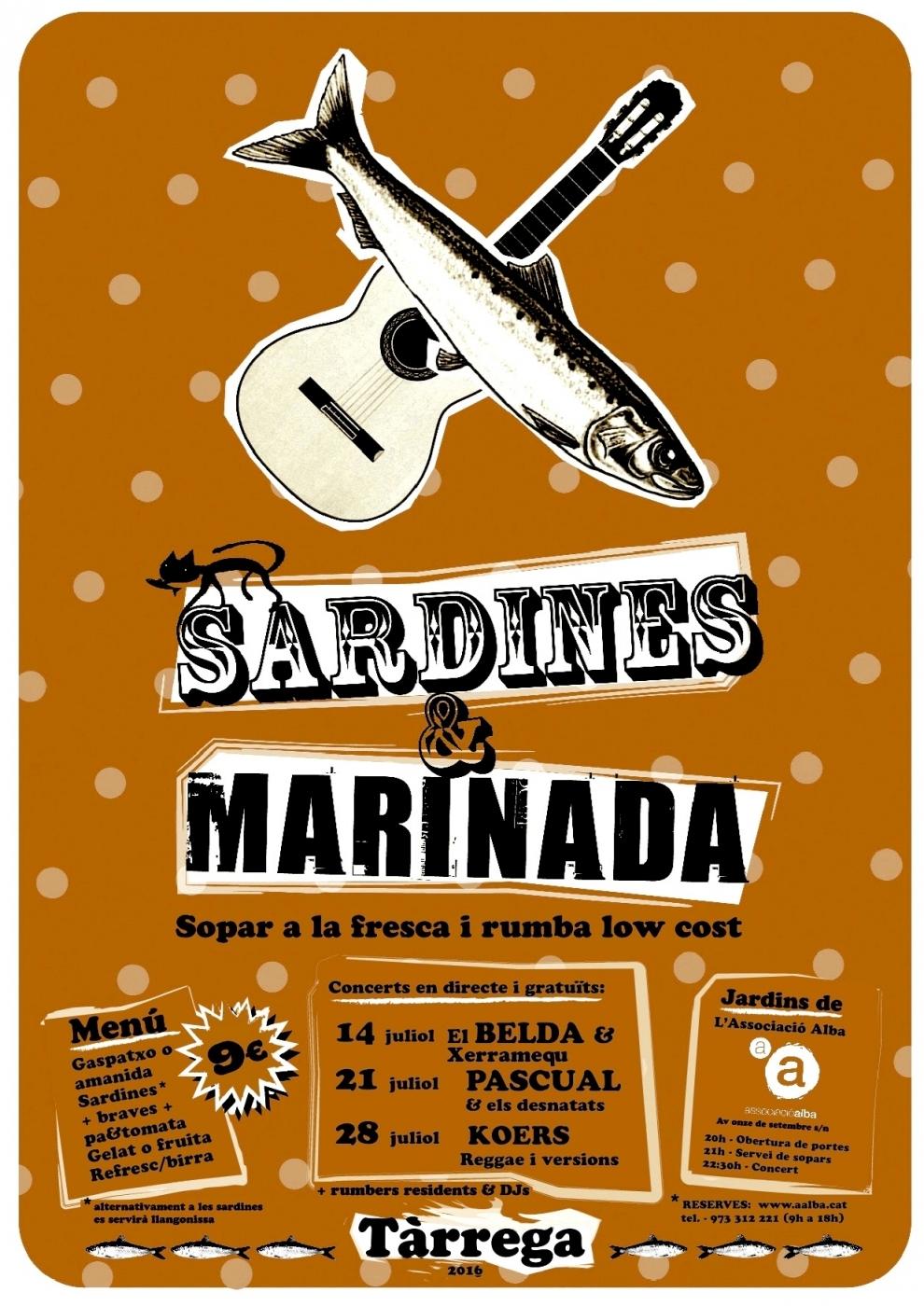 Torna el festival dels dijous de juliol de Tàrrega: Sardines & Marinada