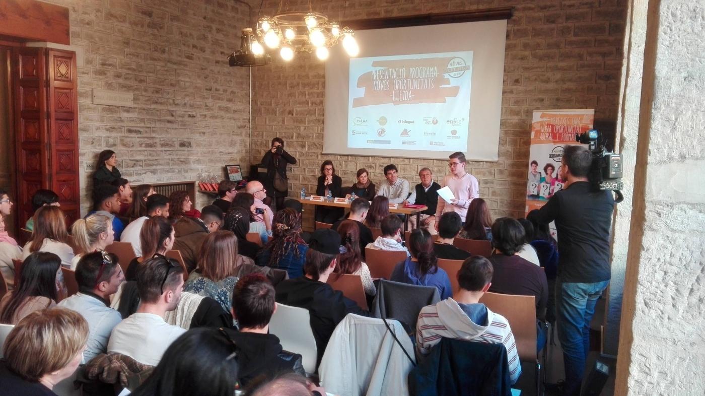 Presentació del programa Noves Oportunitats Lleida
