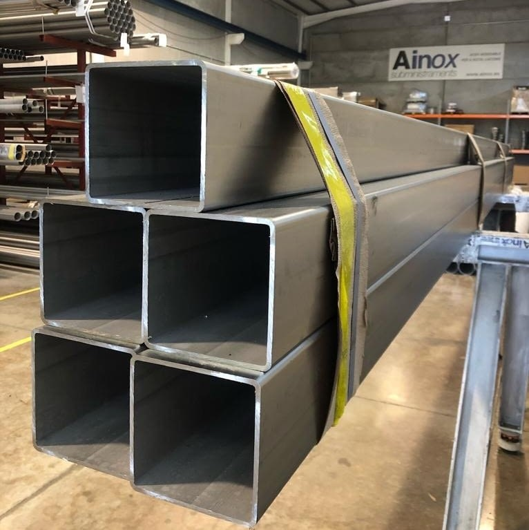 Tubo Estructural  120mm X 120mm Acero Inoxidable