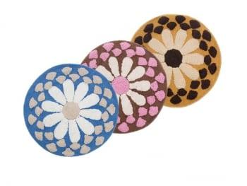 Alfombra redonda flor - 2