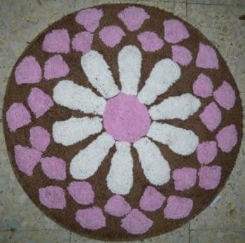 Alfombra redonda flor - 3