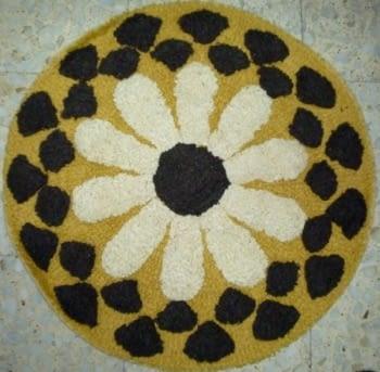 Alfombra redonda flor - 4