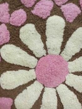 Alfombra redonda flor - 6