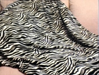 Mantitas piel Cebra