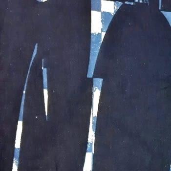 Tela Franela azul marino 150