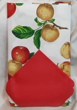 Mantelería Manzanas 150 x 150 + 6