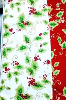 Mantelería Navidad Acebo blanca - 2