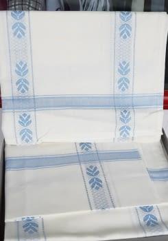 Mantelería azul 150 x 300 + 12 - 3