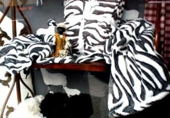 Manta sofá cebra