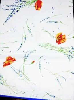 Mantelería flor naranja 150 x 220 + 8 - 1