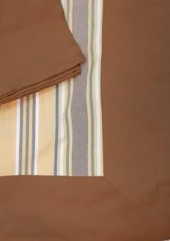Mantelería rayitas marrón 180 x 225 + 8 - 1