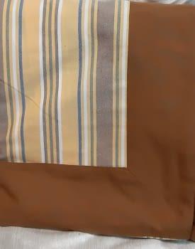 Mantelería rayitas marrón 180 x 225 + 8 - 2