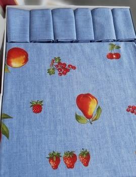 Mantelería Azul 150 x 150 + 6 - 1