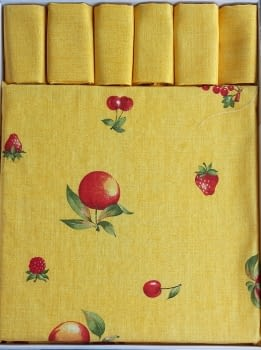 Mantelería Amarilla 150 x 150 + 6 - 1