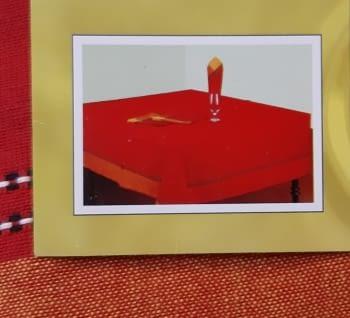 Mantelería Roja 150 x 150 + 6 - 3