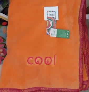 Manta cama 90 Manterol naranja Cool