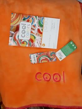 Manta cama 90 Manterol naranja Cool - 1