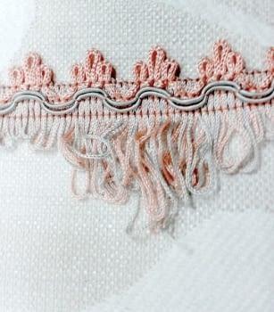 Flecos rosa y gris