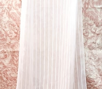 Tela Visillo rayas blanco
