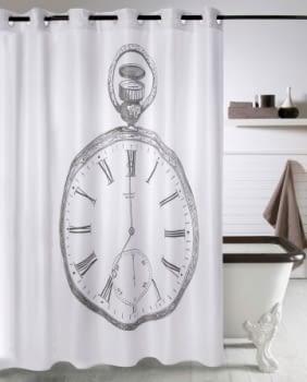 Cortina baño Reloj