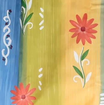 Tela flores coloridas 280 - 1