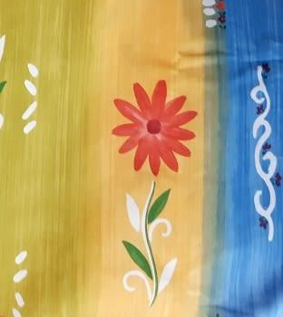 Tela flores coloridas 280 - 3