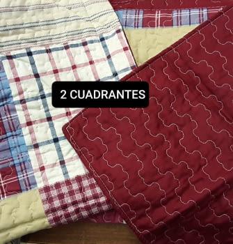 Colcha Bouti cuadros + 2 cuadrantes - 2