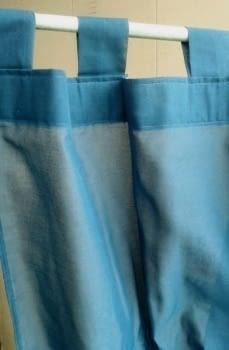 2 Visillos azul petróleo - 1