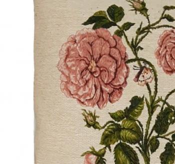 Funda cojín tejido flor rosa 45 x 45 - 4