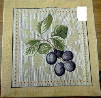 Cojín tapiz uvas