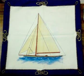 Funda cojín barco