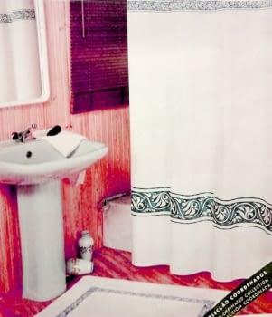 Cortina baño verde