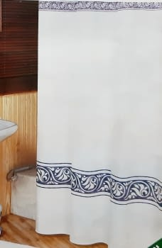 Cortina baño verde - 2