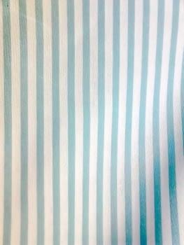 Tela Loneta rayas turquesas 280 - 5