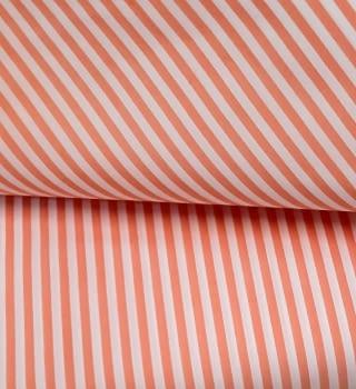 Tela Vichy rayas naranja