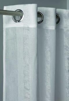 Visillo raya plata