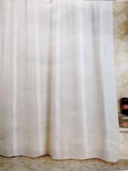 Cortina baño raya plata - 1