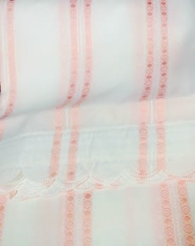 Cortina baño rosa