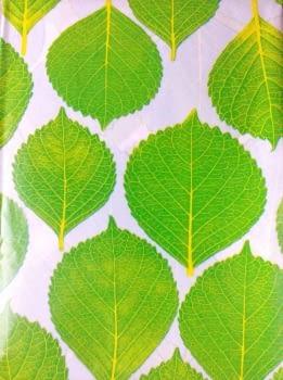 Cortina baño hojas