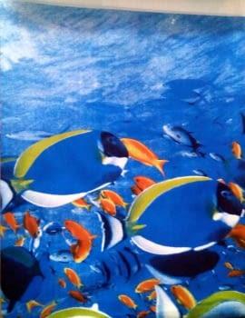 Cortina baño peces