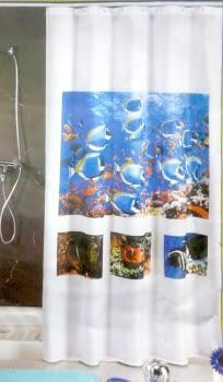 Cortina baño peces - 1