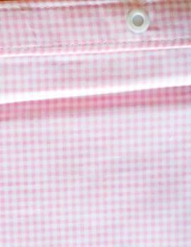 Cortina baño vichy rosa