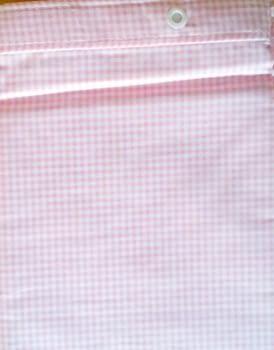 Cortina baño vichy rosa - 2