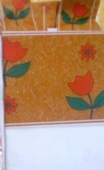 Cortina baño tulipanes - 3