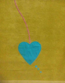Alfombra chenilla corazón - 1