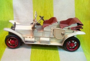 COCHE ANTIGUO BLANCO - 1