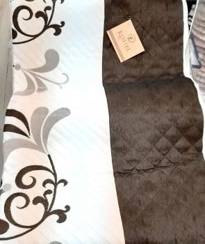 Colcha reversible marrón cama 135 - 1