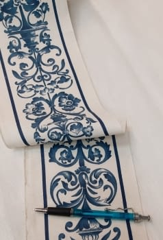 Greca jarrones azul