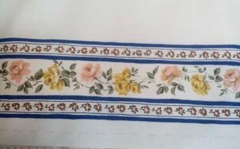 Greca flores azules - 1