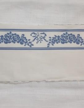 Greca tela flores azul - 5